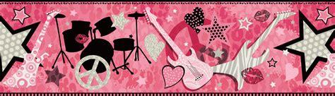 wallpaper pink rock pink rock star guitar wallpaper border
