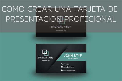 presentacion imagenes html gratis como dise 241 ar una tarjeta de presentaci 243 n profesional en