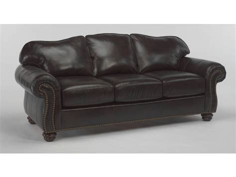 Leather Sofa Nailhead Flexsteel Living Room Leather Sofa With Nailhead Trim 3648 31 The Sofa Store Towson Glen