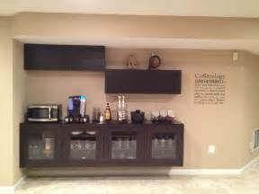 coffee bar using ikea besta cabinets bar home pinterest
