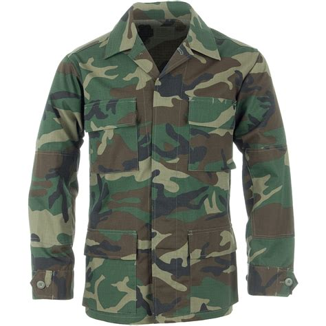teesar tactical mens bdu shirt ripstop cotton jacket woodland ebay