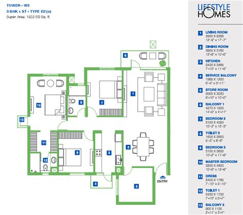 vatika lifestyle homes floor plan floorplan in