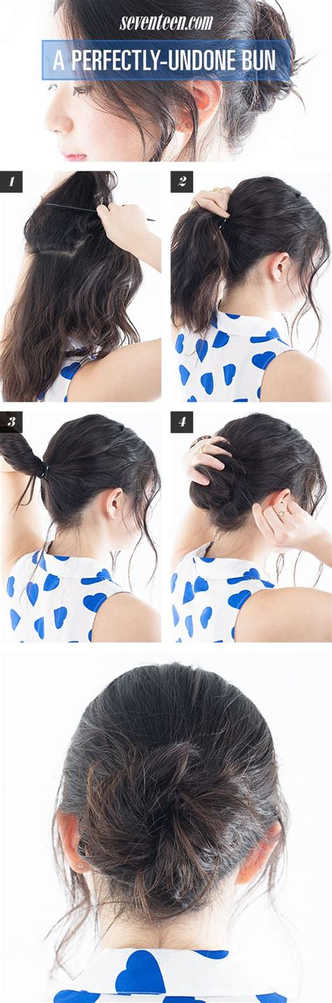 how to achieve a messy hairstyle hair how to perfectly undone messy bun the o jays bun