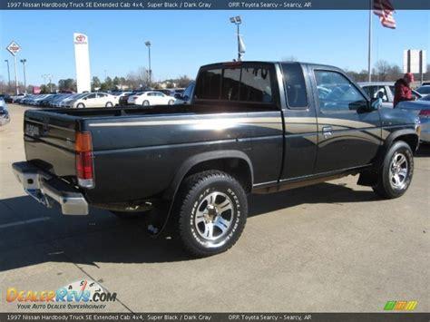 gray nissan truck 1997 nissan hardbody truck se extended cab 4x4 super black