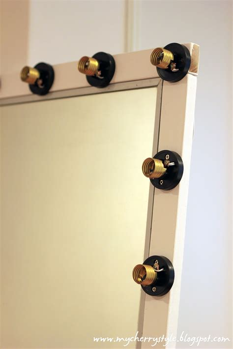diy mirror with lights diy hollywood style mirror with lights tutorial from