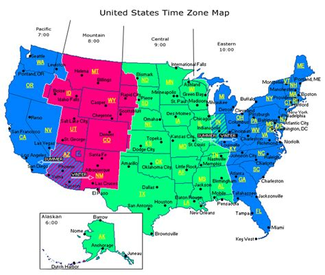 map of us time zones with the state names a brief history of time zones or why do we keep changing