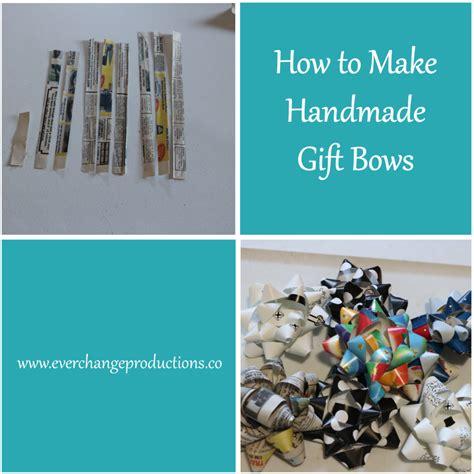 How To Make Handmade Bows - how to make handmade gift bows