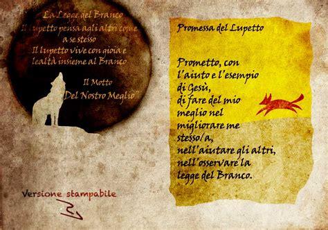 la promessa testo promessa legge motto lupetto