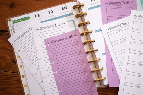 Galerry free happy planner printable inserts
