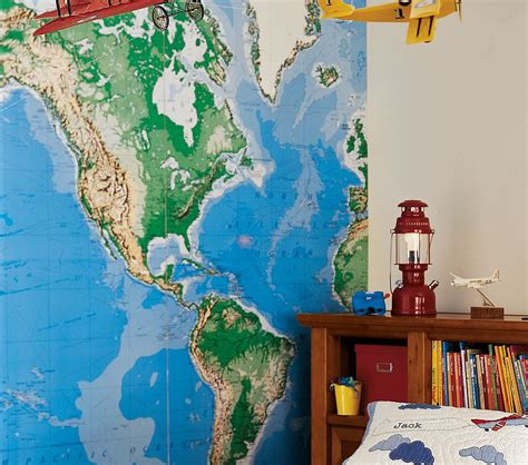 world wall mural decorating with maps