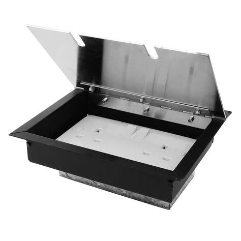 Recessed Floor Box by Recessed Floor Box 1 Recessed Floor Box Satin