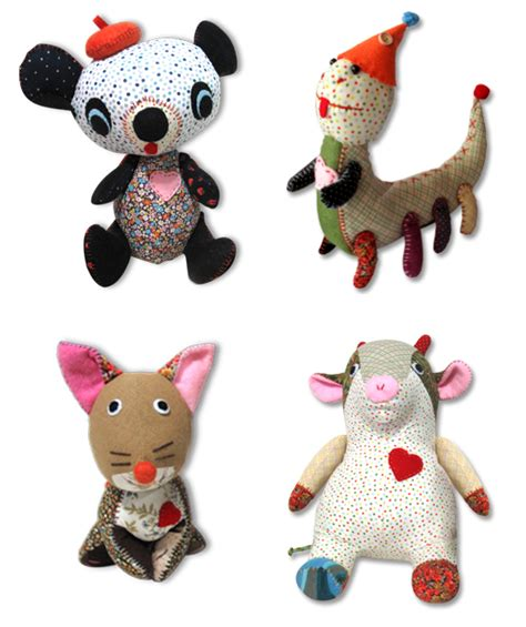 Handmade Toys - nook nook toys from thailand handmade stuffed animals