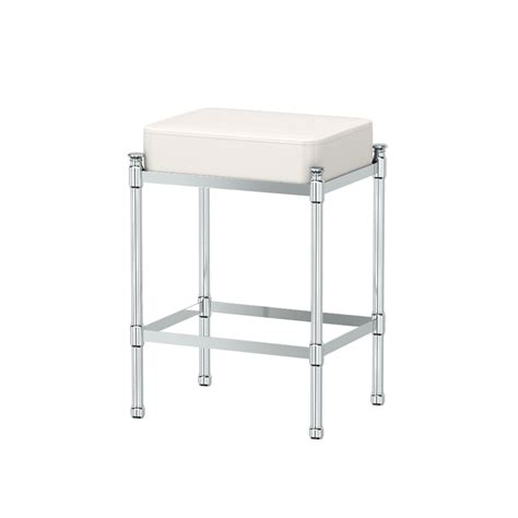 chrome vanity stool gatco vanity seating bathroom