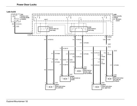 solved 2002 explorer door locks wiring diagram fixya