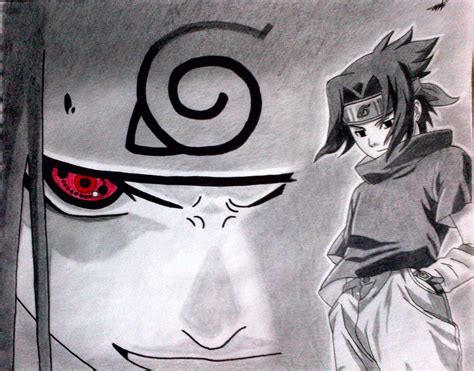 imagenes a lapiz de naruto dibujando a sasuke uchiha naruto arte taringa