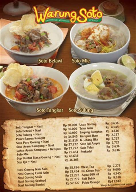 design menu makanan unik desain daftar menu makanan