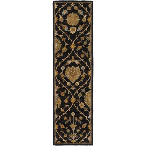 rug runners 2 x 14 artistic weavers middleton alexandra black 2 ft 3 in x 14 ft indoor rug runner awmd2110 2314