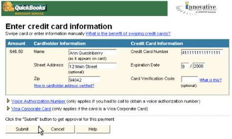 Credit In Form New In Box Intuit Quickbooks Credit Card Processing Kit Software Ebay