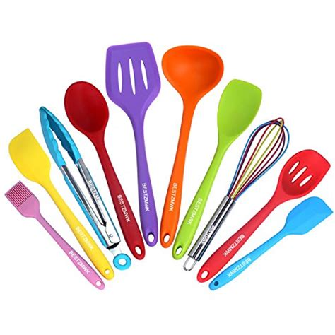 colorful cookware silicone kitchen utensils colorful 10 pieces nonstick