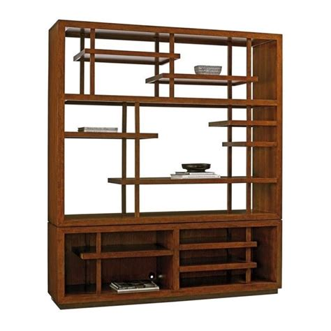 bahama island fusion taipei wood media bookcase in