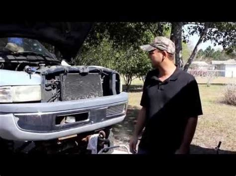 dodge ram 1500 fan clutch removal 5 9l v8 dodge ram water pump removal and install air