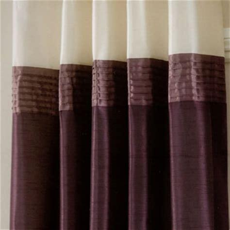 cream and aubergine curtains sorrento pintuck faux silk eyelet curtains curtains