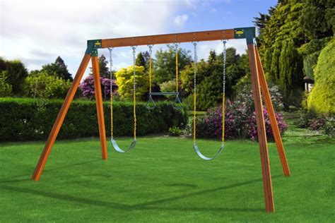 easy swing a frame swing set built with two brackets