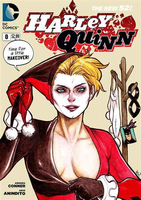 harley quinns cover gallery faux harley quinn cover by arioanindito on