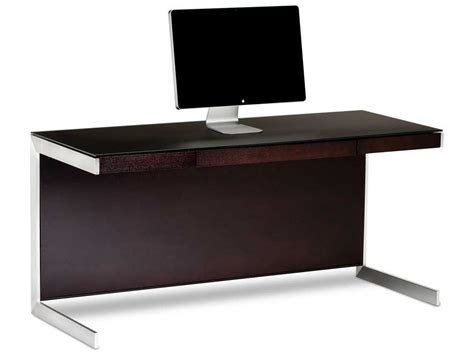 Computer Desk Deal Bdi Sequel 60 X 24 Rectangular Espresso Stained Oak Computer Desk With Back Panel Bdi6001es