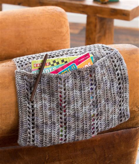 free crochet pattern remote holder organizer pouch red heart