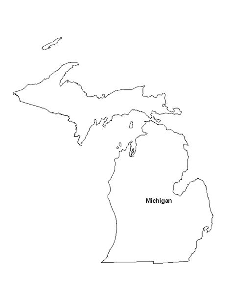 printable maps michigan printable map of the state of michigan