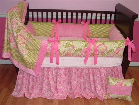 Poppy Crib Bedding by Poppy Baby Bedding Pink And Green
