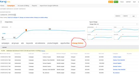 bing history more new tools from bing ads change history graph in the