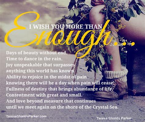 i you i wish you more than enough teresa shields