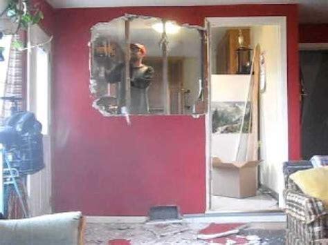 tearing a wall tearing a wall