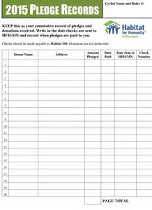 Fundraiser Pledge Form Template by Pin Fundraising Donation Pledge Form Template On
