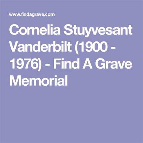 Vandy Finder Cornelia Stuyvesant Vanderbilt 1900 1976 Find A