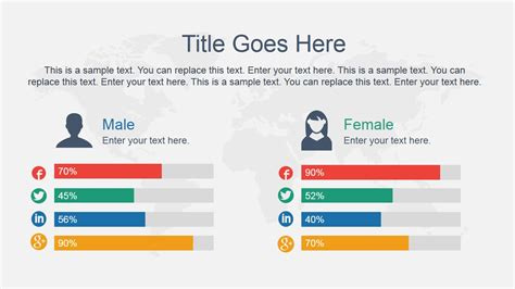 Comparison Slide Male Vs Female Slidemodel Comparison Ppt Template