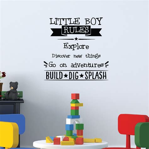 kids bedroom quotes little boy rules wall quotes decal wallquotes com