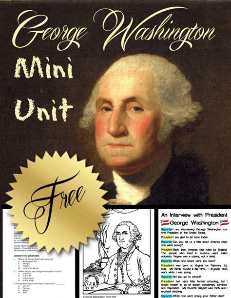 george washington biography middle school free george washington mini unit free homeschool deals
