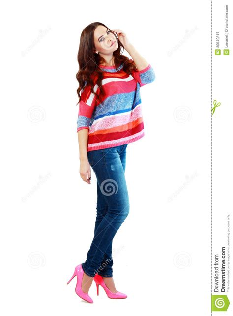 stylish quates poses girlz girl in fashion stylish jeans royalty free stock