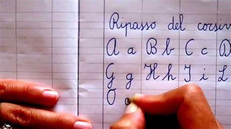 lettere corsivo ripasso corsivo