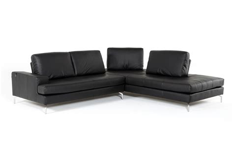 voyager sofa estro salotti voyager modern black leather sectional sofa