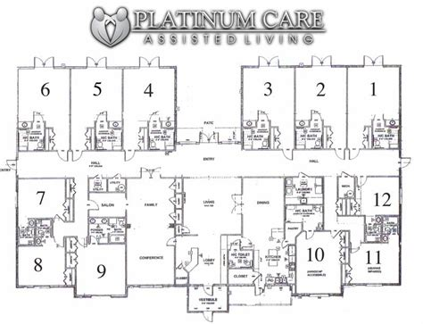 assisted living facility floor plans floor plan platinum care assisted living st george utah