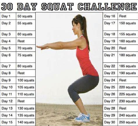 30 day squat challenge the fitness project