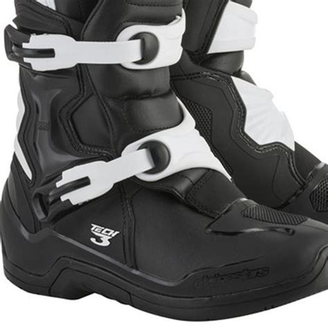 alpinestar tech 3 motocross boots alpinestars tech 3 boots black white dirtbikexpress