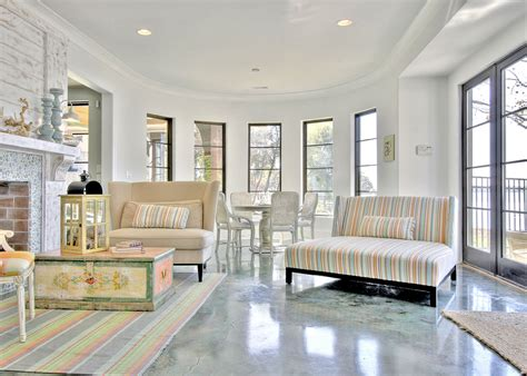 concrete stained floors Porch Traditional with chest curved wall deck beeyoutifullife.com