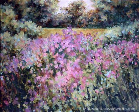 Joyful Garden by Cape Cod Paintings Impressionist Artist En Plein Air