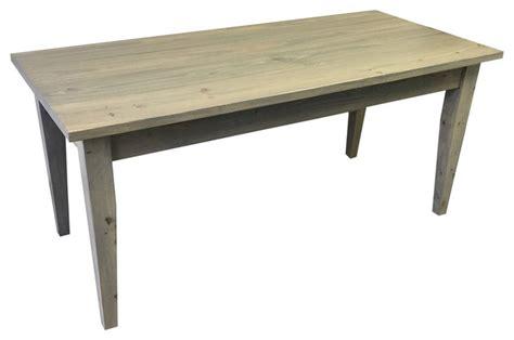 farmhouse dining table legs ezekiel stearns grey farmhouse table with tapered legs