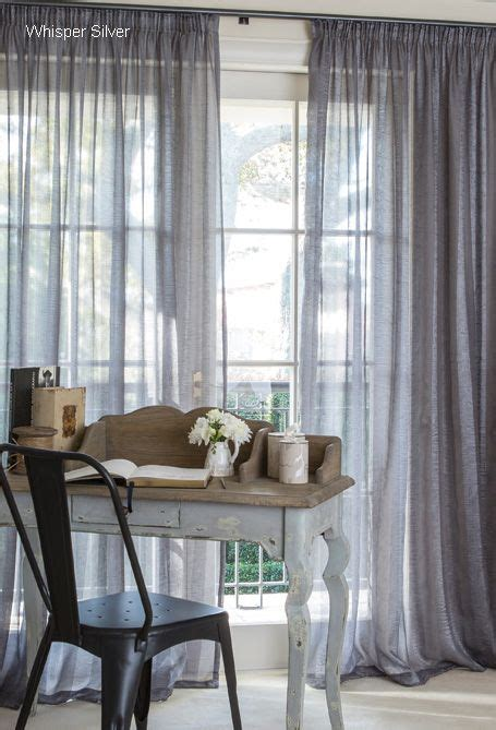 Rideau Gris 782 by These Curtain Studio Silver Shimmering Sheer Curtains